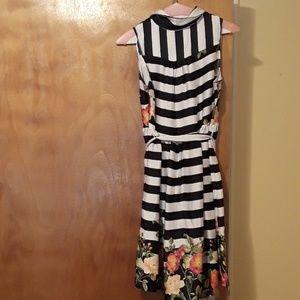 Unique striped floral dress